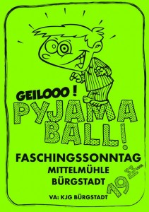 Pyjamaball Plakat