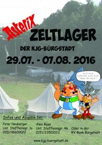 Plakat Zeltlager 2016